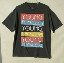 S5740 Young & Reckless Men's XL Black Short Sleeve Graphic T-Shirt With Logo