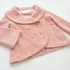 LIZ LISA Wool Tweed Shawl collar Topper Coat Pink Lolita Hime gyaru Size0 Japan
