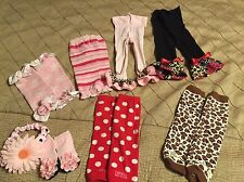 Lot Of Baby Legs, Footless Tights, And Pair Of Socks With Matching Headband