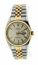 Rolex Oyster Perpetual Datejust Bubble Back Two Tone Stainless Steel Watch 6105