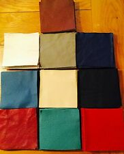 "100% GENUINE LEATHER 10 OF 4"" SQUARE PATCHWORK CHARM PACK CRAFT REMNANTS SCRAPS"