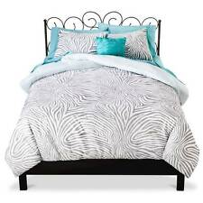 Xhilaration Zebra Reversible - Gray - 8pc FULL Bed in a Bag