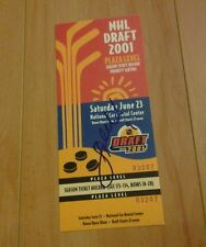 Stephen Weiss Autographed 2001 Draft Ticket