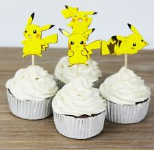 24 pcs Cupcake Cup Cake Decorating,Toppers PARTY DECORATION ,Pokemon Pikachu