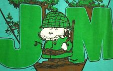 JOE MUD Grafenwohr Military Peanuts small T shirt 1970s Snoopy tee Germany Artex