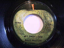 BILLY PRESTON My Sweet Lord  APPLE 1826 Variation 1AB WINCHESTER  read specs!