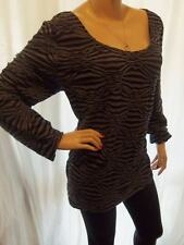 STUNNING NEW BLACK TEXTURED STRIPE STORE TWENTY ONE LONG SLEEVED TOP 22