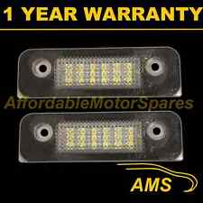 2X FOR FORD FIESTA MONDEO FUSION 18 WHITE LED NUMBER PLATE LIGHT LAMPS