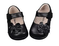 NEW Girls Leather Shoes Formal sz 3-8.5 for 1-4yr WHITE-RED-PINK-SILVER-BLACK