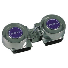 Ongaro 10001 Mini Compact Twin Horn 12V 6A 112dB Dual Horns for Boat up to 36ft
