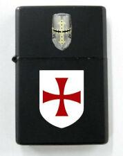 Medieval Templar Knight Crusades Holy Land Battle Shield Dog Tag Lighter War KT