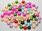 200 Mixed Colour Half Pearl Bead Flat Back 10mm Scrapbook Craft FlatBack