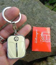 Volkswagen VW german classic Beetle Bug - CREAM Front Hood Keychain - RARE