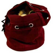New Drawstring Chess Pieces Bag – Locking Clasp - Dark Red