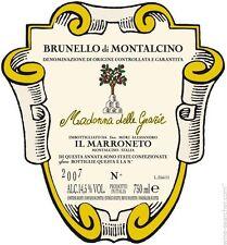 """3 BOTTLES BRUNELLO DI MONTALCINO DOCG """" MADONNA DELLE GRAZIE """" 2011 IL MARRONETO"""