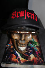 BRUJERIA-MEXICAN BAND-BASEBALL CAP- BLACK/WITH RED VINYL-100%COTTON