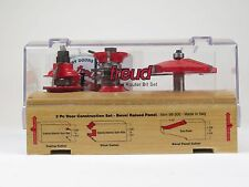 Freud 98-300 3-pc Interior & Exterior Door Construction Set,  Router Bit Set NEW