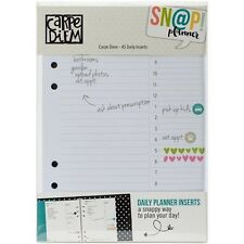 Simple Stories Carpe Diem A5 Double-Sided Daily Inserts - 506748