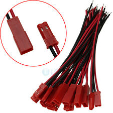 20LOT Battery Plug JST RC Model Socket Connector Cable Wire Male Female 10 Pairs