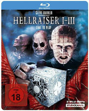 HELLRAISER 1 2 3 Hellbound HELL ON EARTH ltd. 3 BLU-RAY Steelbook BOX Nuevo