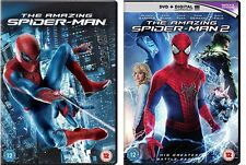 New Sealed The Amazing Spider-Man 1 & 2 + UV Copy DVD Andrew Garfield Spiderman