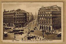 Cpa Paris - carrefour de la rue de la Paix et de l'avenue de l'Opéra rp0367