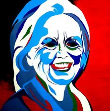 Hillary Clinton Painting Portrait Political Acrylic on Canvas Original 4'X4'