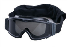 NEW US ARMY/MARINES ESS PROFILE NVG BALLISTIC GOGGLES. BLACK. SMOKE/CLEAR LENSES