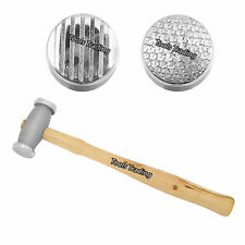 Texturing Hammer Double Sided 2 Patterns Jewellery making Tools Texture Metal B