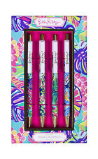 New Lilly Pulitzer Assorted Pen Set of 4 Assorted Patterns EXOTIC GARDEN NIB