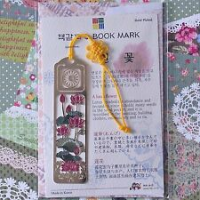 Korea Beauty Metal Bookmark Lotus Flower FreeShipping