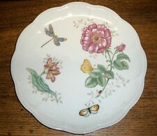 Porcelain Dinner Plate - Lenox Butterfly Meadow Dragonfly Louise Le Luyer - 11""