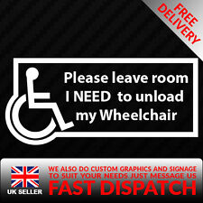 Disabled Leave Room Window Sticker-Disability Sign Wheelchair vinyl stickers
