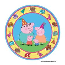 PEPPA PIG Party FAVOR Birthday Plates Cake Decoration Dessert Supplies Piggy  NW