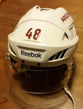 ARIZONA COYOTES Jordan Martinook game-worn road white Reebok helmet (2015-2016)