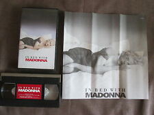 MADONNA In Bed With Madonna JAPAN NTSC VHS TOVW-3095 w/fold-out INSERT Free S&H