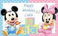 Baby Mickey 1/4 sheet Edible image cake topper fast shipping