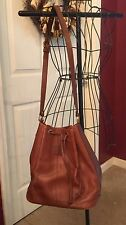 Authentic Vintage Burberry Leather Bucket Bag