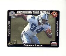 1993 Action Packed AP CHARLES HALEY Dallas Cowboys Monday Night Football Card