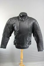 CLASSIC LONDON BLACK LEATHER BIKER JACKET 40 INCH