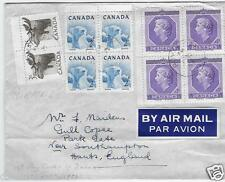 Canada 1953 4¢ Coronation addressed FDC to UK with #322/333 - Sc #330