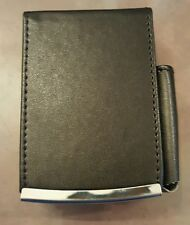 Eclipse Black King Cigarette Lift Case Pocket For Lighter Leather Wrapped
