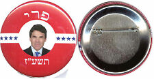 """2016 Rick Perry for President 2.25"""" PinBack Button in HEBREW! Brand New!"""