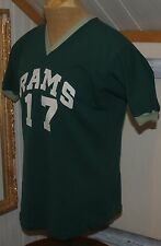 vtg FELCO softball baseball FOOTBALL V Neck Jersey Shirt 100% nylon RAMS #17 XL