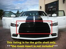 NEW Dodge Charger RT Gloss Black Top Grille Surround Grill Fits Mopar 2011-2014