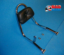 Rennec Chrome Grab Rail Sissy Bar with Padded Backrest Yamaha XV535 Virago 88-01