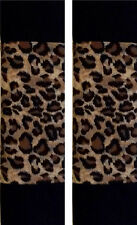 SEAT BELT COVERS SHOULDER CUSHION PADS CHEETAH and BLACK