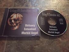 "OBITUARY ENTOMBED MORBID ANGEL RARE LIVE CD ""TRILOGY OF DESTRUCTION VOLUME 2"""