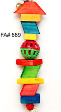 Tall Ball Wood pet bird parrot toy cage toys amazon african grey cockatoo