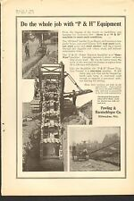 1916 VINTAGE MAGAZINE AD #00110-  P&H PAWLING AND HARNISCHFEGER DIGGER